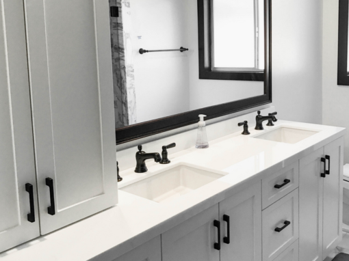 Black & White Marble Bathroom Remodel